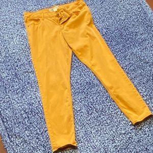 Old Navy Mustard Rockstar Jeans